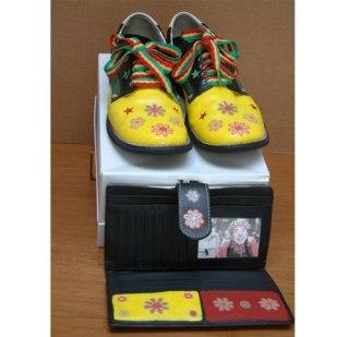 Kalvin Klown Shoes with Matching Klutch, Diane Di Bernardino Sanborn, mixed media.